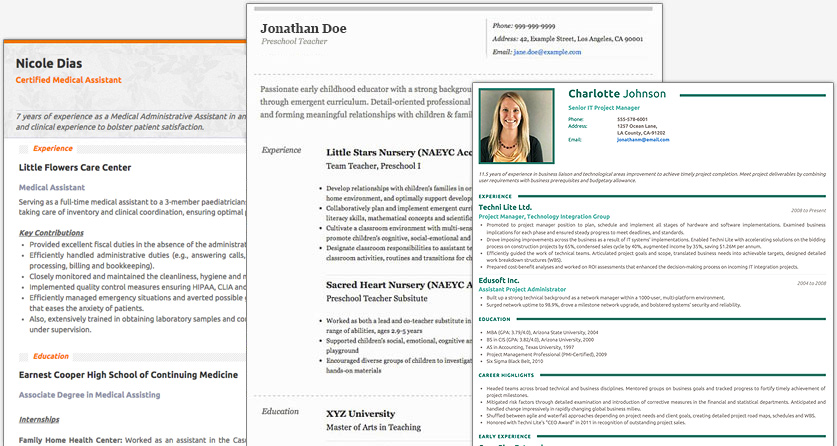 Online CV Maker  Academic Resume Builder