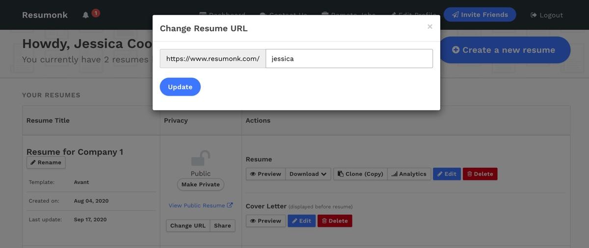 Change URL
