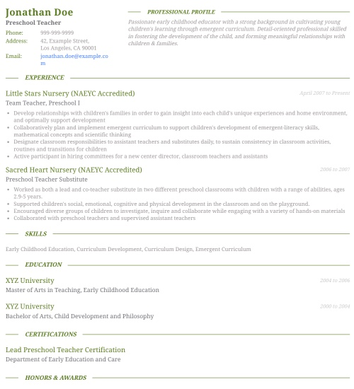 Resume Template - 'Charisma' | Create your CV