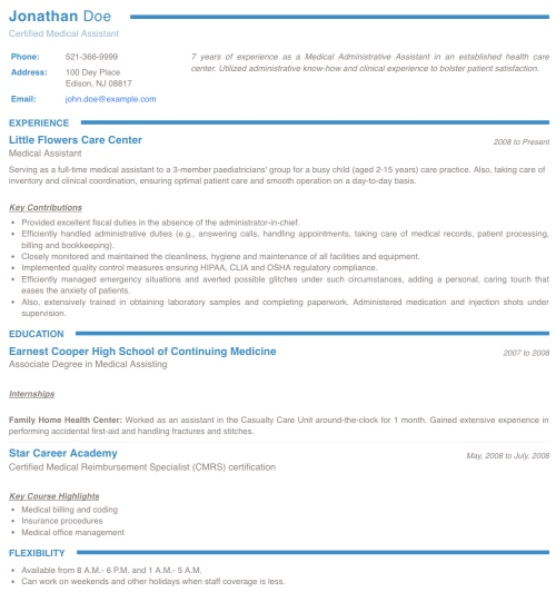 Resume Template - 'Collegium' | Create your CV