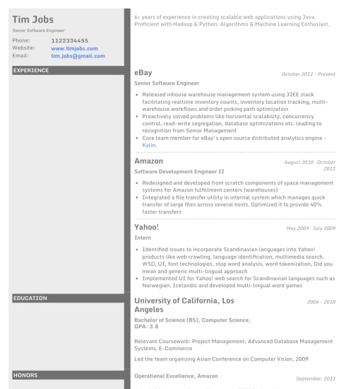 resume template concrete create - Pdf Resume Templates
