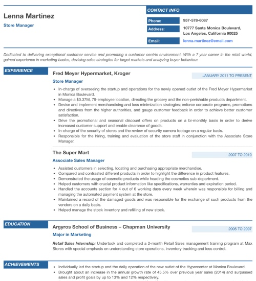 Resume Template - 'Prestige' | Create your CV