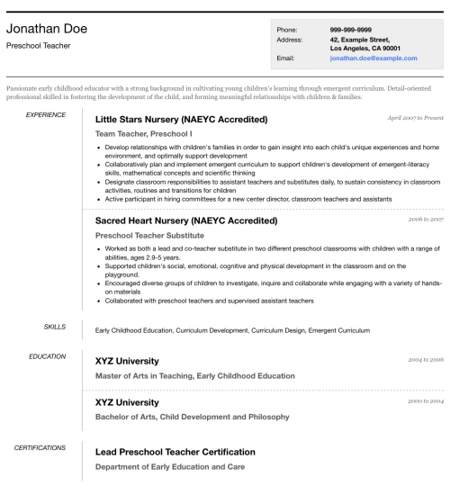 Resume Template   U0027Simplimou0027 | Create ...  Templates For A Resume