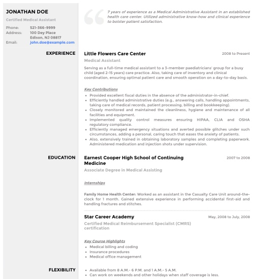 Resume Template - 'Slate' | Create your CV