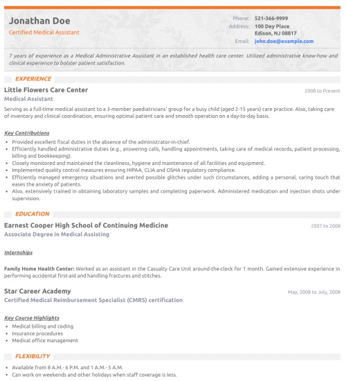 resume template slim create - Resum Formats