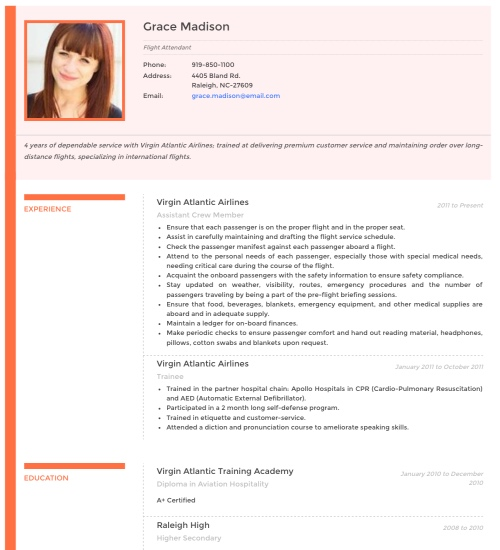 Superior Resume Template   U0027Vividu0027 | Create ...  Cv Resume Format