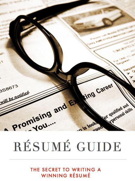 free resume writing book