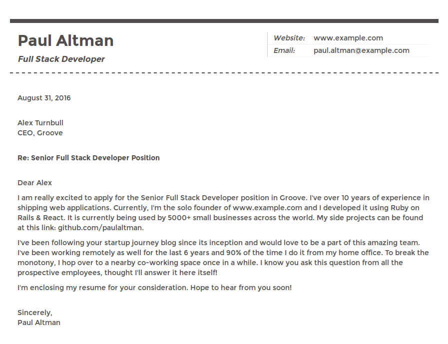 software engineer cover letter example