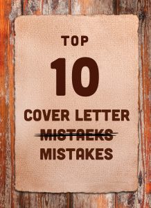Don't Make These 10 Cover Letter Mistakes