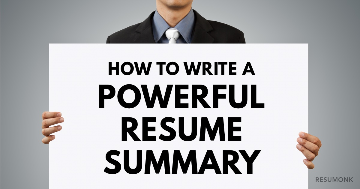 How To Write A Powerful Resume Summary 10 Best Examples