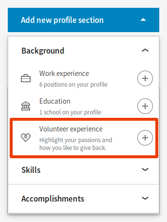 add-volunteer-experience-linkedin